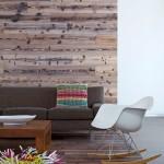 18-perete placat cu parchet laminat decor living modern cu accente rustice