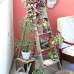 18-scara din lemn suport pentru flori pe balcon