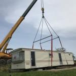 19-asezare casa mobila SH cu macaraua pe terenul beneficiarului
