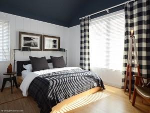 19-camera pentru oaspeti amenajata in alb gri si negru