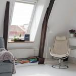 19-elemente decorative din lemn de sustinere pentru tavan garsoniera mansardata