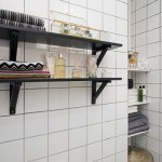 19-rafturi decorative negre depozitare baie stil scandinav garsoniera mica
