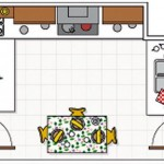 19-schita plan bucatarie de 12 mp cu mobilier in forma literei U