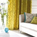 2-accente colorate galben mustar si bleu turcoaz textile amenajare living modern