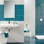 2-accente turcoaz decor baie moderna alba