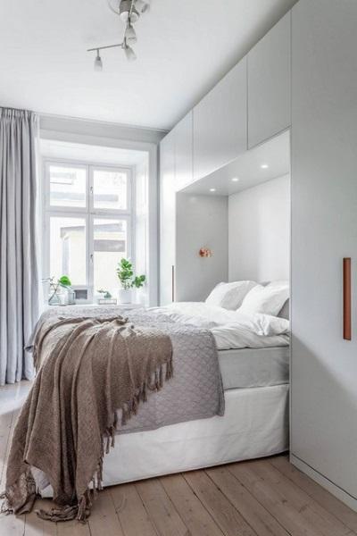 2-alb bej si gri in amenajarea unui dormitor scandinav modern