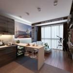 2-amenajare bucatarie mica apartament idee stil modern 2019