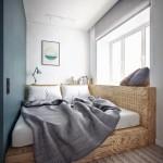 2-amenajare dormitor foarte mic stil minimalist
