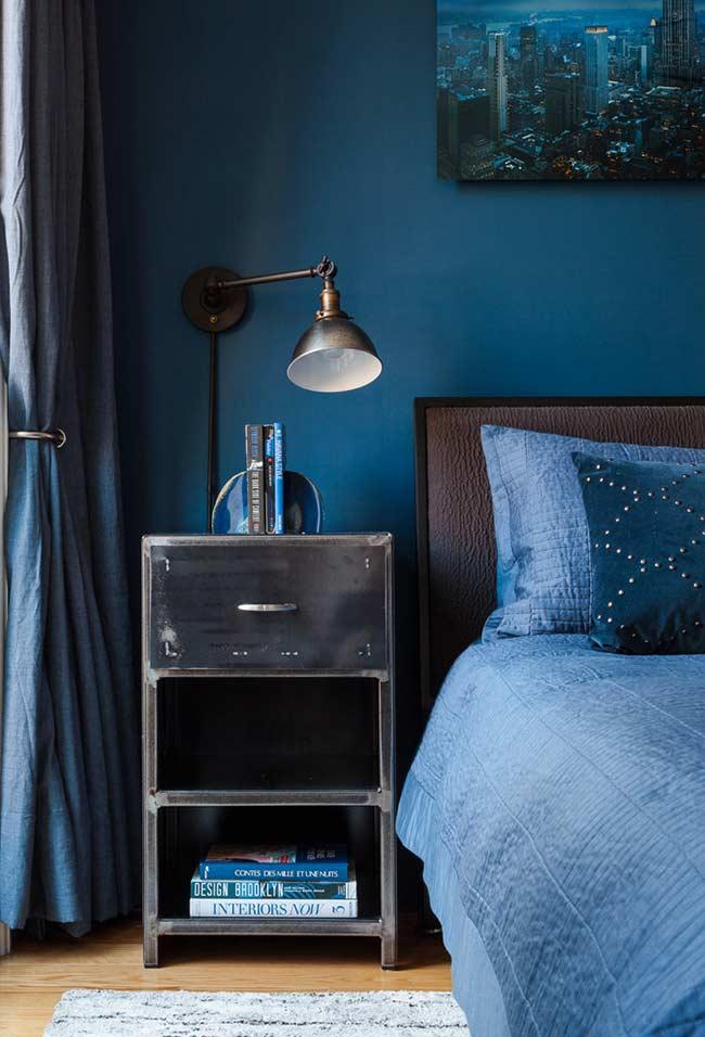 amenajare dormitor matrimonial bleumarin