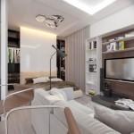 2-amenajare dormitor open space living garsoniera 36 mp