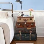 2-amenajare dormitor vintage noptiera din valize vechi
