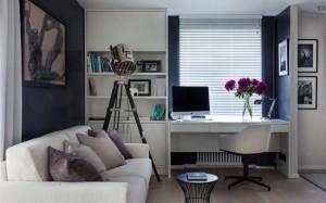 2-amenajare spatiu de lucru birou in living de apartament