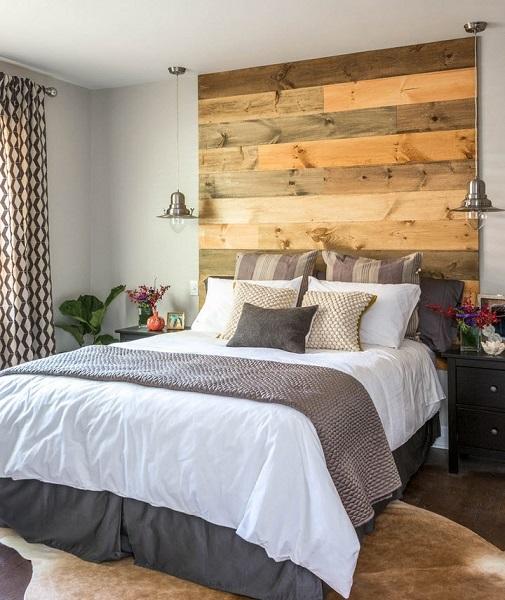 2-amenajarea unui dormitor modern de 12 mp cu accente rustice
