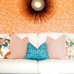 2-aranjament sau compozitie 2-2-1 a pernutelor decorative in culori complementare