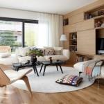 2-asortare canapea crem cu covorul din living modern