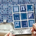 2-autocolant imitatie mozaic ideal pentru baie si bucatarie