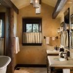 2-baie frumoasa cu mobilier si accesorii rustice