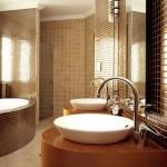 2-baie matrimoniala moderna placata cu faianta si mozaic maro