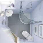 2-baie mica cu obiectele sanitare montate in colt