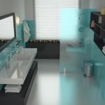 2-baie moderna pereti placati cu faianta turcoaz