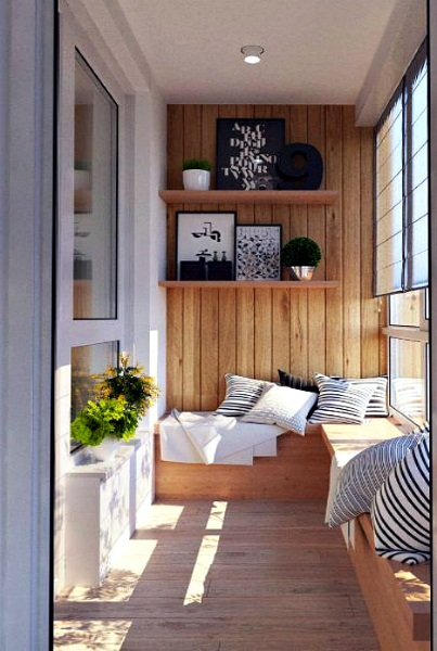 2-balcon cu perete placat cu lambriu amenajare stil minimalist