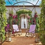 2-bolta cu bougainvillea si glicina la intrarea in casa Mallorca Spania