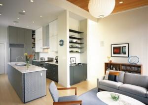 2-bucatarie moderna mica mobila culoare gri la comanda