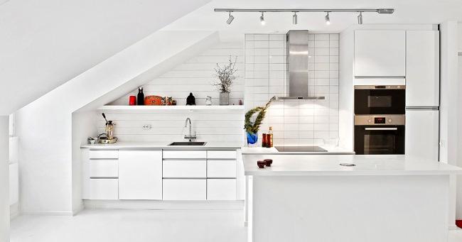 2-bucatarie open space alba apartament 2 camere mansarda