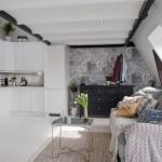 2-bucatarie open space garsoniera mansarda stil rustic scandinav
