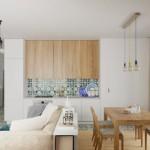 2-bucatarie si dining in living apartament 2 camere amenajat modern
