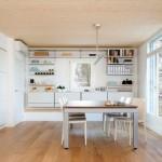 2-bucatarie si loc de luat masa interior casa modulara prefabricata bioclimatica din lemn NOEM Spania