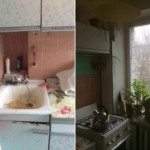 2-bucatarie veche apartament foarte mic inainte de renovare