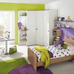 2-camera adolescenta amenajata si decorata in verde fistic si violet