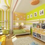 2-camera colorata cu vernilalb si portocaliu pentru copii