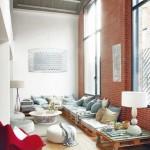2-canapea cotar din paleti in amenajarea unui living industrial modern