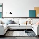 2-canapea cu 3 laturi alba in amenajarea unui living modern