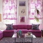 2-canapea roz purpuriu living modern