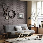 2-caramida aparenta in accentuarea unui perete din living