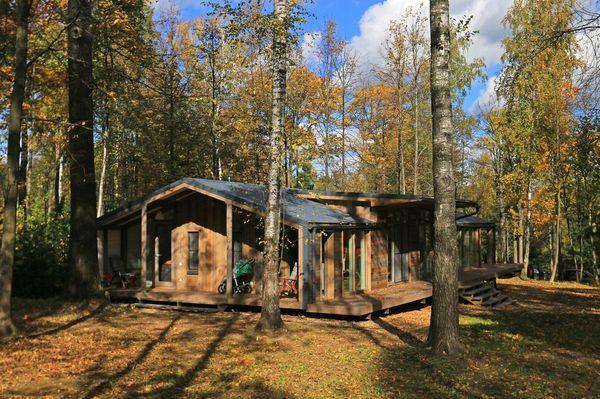 2-casa prefabricata din lemn DublDom cu 3 dormitoare si un living open space