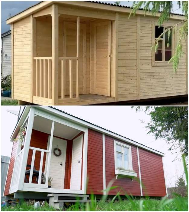 2-casa-vacanta-mica-DIY-lemn-inainte-si-dupa-finisare
