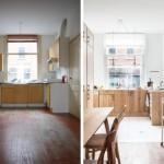 2-corectarea vizuala a unei bucatarii lungi si inguste cu ajutorul mobilierului