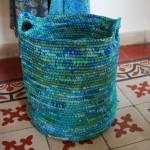 2-cos de rufe handmade din pungi de plastic reciclate