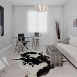 2-covor din blana naturala decor living modern alb