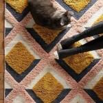 2-covor pufos si moale cu imprimeu modern decor living