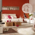 2-decor living modern mobila alba perete zugravit in rosu