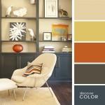 2-decor living paleta cromatica neutra in nuante de beige ocru si gri inchis