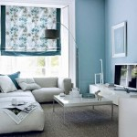 2-decor relaxant living modern in alb bleu si gri