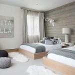 2-dormitor amenajat in stil scandinav in alb si gri