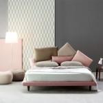 2-dormitor amenajat minimalist cu accente scandinave roz quartz
