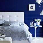 2-dormitor cu mobila alba zugravit in albastru
